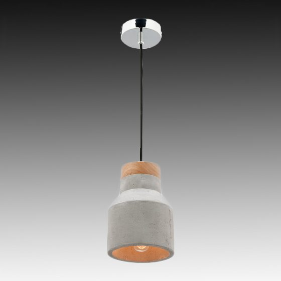 mercator moby timber concrete pendant light small