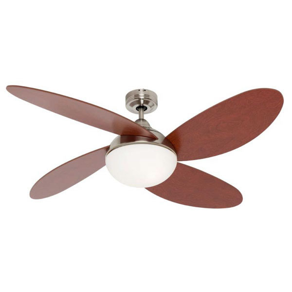 Mercator roseberry 52 ceiling fan with light chromewalnut mercator roseberry 52 ceiling fan with light chromewalnut aloadofball Gallery