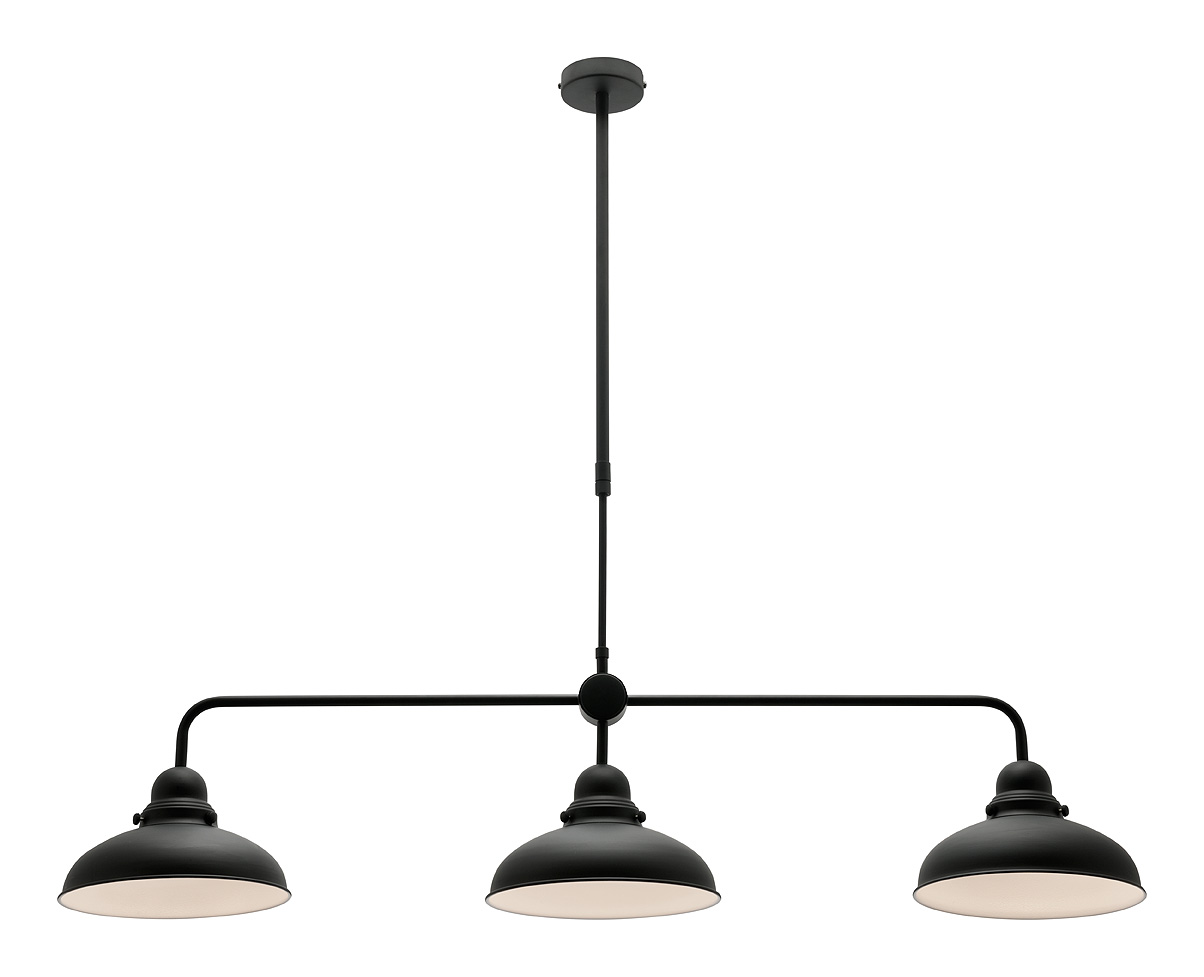 Mercator Verona Black Three Light Pendant