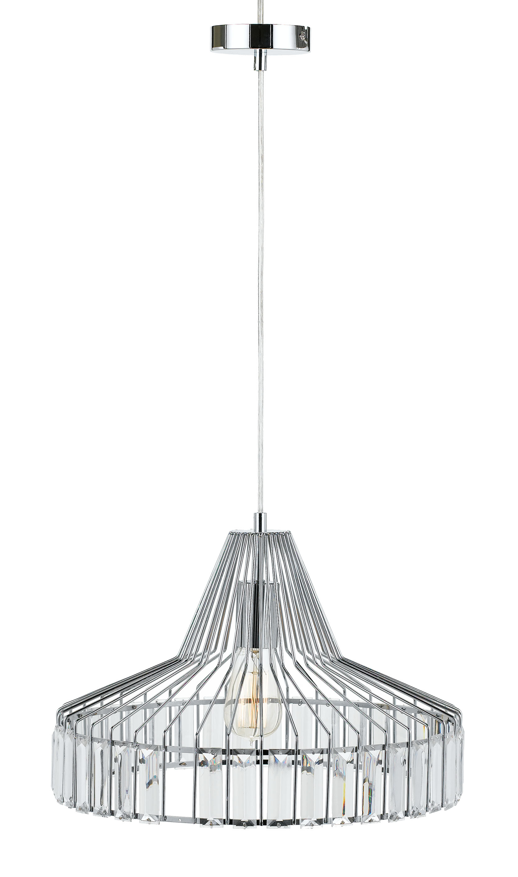 Telbix Elmas Chrome Light Pendant 420mm E27 Led Lighting