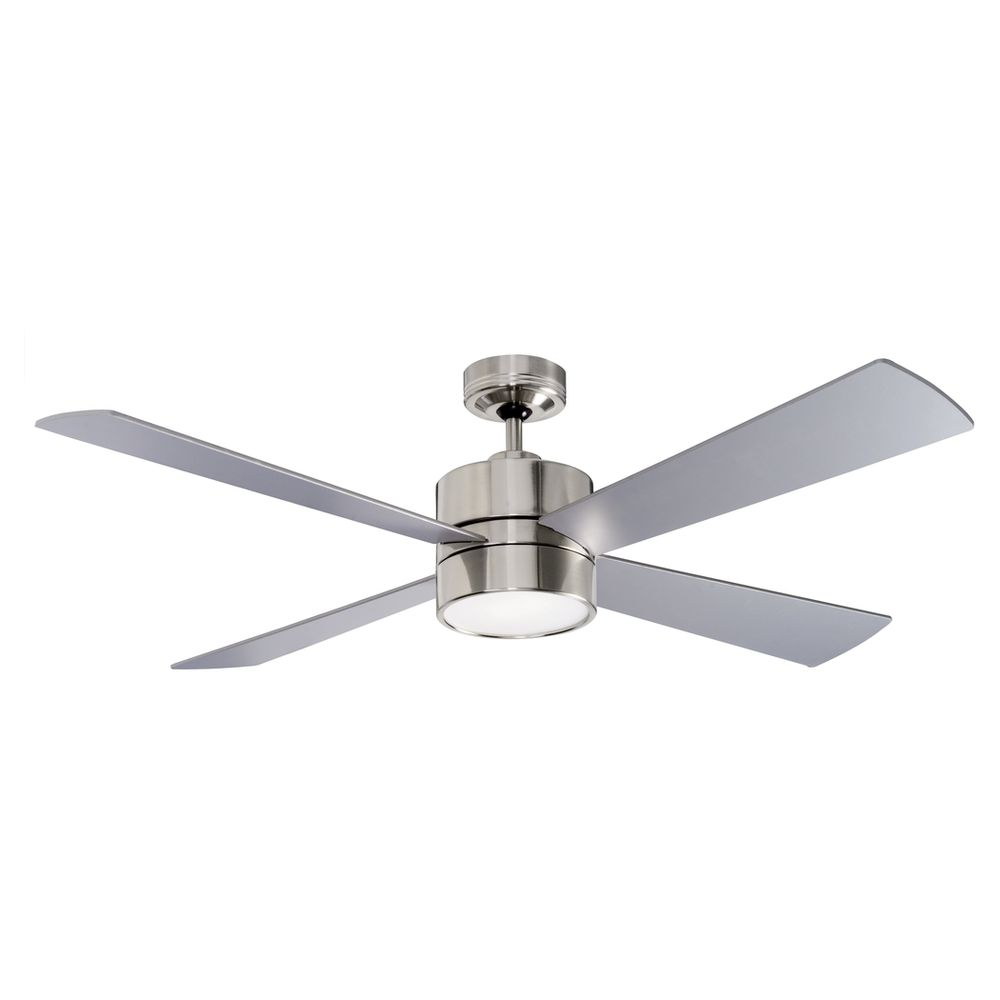 52 Quot 1300mm Fanworks Impreza Brushed Chrome Ceiling Fan