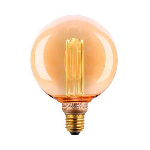 Sphere125-9E27LED15L-Amber-Glass-3.5W-LED-Laser