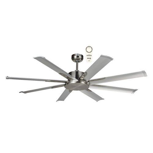 Albatross Mini DC 1650mm Brushed Nickel Ceiling Fan